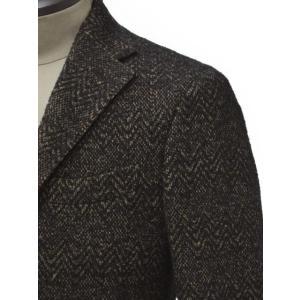 THE GIGI【ザ ジジ】シングルジャケット DEGAS E080 950 ウール コットン シェブロン べージュ ブラック|cinqueunaltro|04