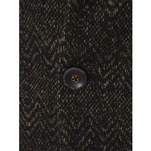 THE GIGI【ザ ジジ】シングルジャケット DEGAS E080 950 ウール コットン シェブロン べージュ ブラック|cinqueunaltro|05