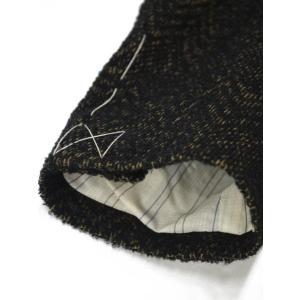 THE GIGI【ザ ジジ】シングルジャケット DEGAS E080 950 ウール コットン シェブロン べージュ ブラック|cinqueunaltro|06