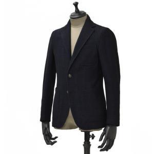 THE GIGI【ザ ジジ】シングルジャケット ANGIE G008 750 コットン ウール ナイロン チェック ネイビー ブラック|cinqueunaltro