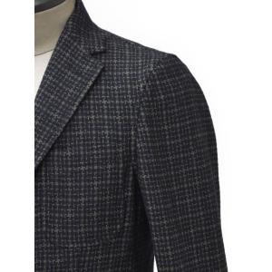 THE GIGI【ザ ジジ】シングルジャケット ANGIE G009 550 コットン ウール ナイロン ジャガード カーキ ネイビー|cinqueunaltro|04