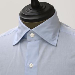 【size41】Mario Musucariello【マリオムスカリエッロ】 ドレスシャツ ZEUS 28.2 cotton LIGHT BLUE(ブロード コットン ライトブルー)|cinqueunaltro