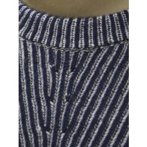 【送料無料】HERITAGE【ヘリテージ】リブクルーネックニットH 0226 G78  02267 wool cashmere NAVY GREY(ウール カシミア グレー ネイビー)|cinqueunaltro|04