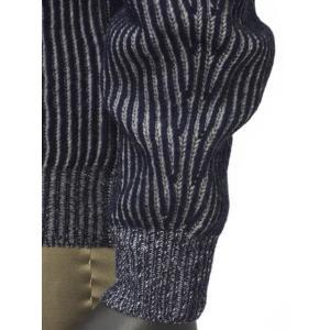 【送料無料】HERITAGE【ヘリテージ】リブクルーネックニットH 0226 G78  02267 wool cashmere NAVY GREY(ウール カシミア グレー ネイビー)|cinqueunaltro|05