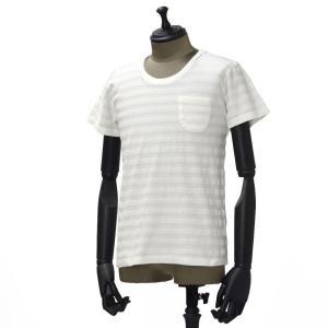 Seagreen【シーグリーン】パイルボーダーポケットカットソー cotton WHITE(コットン ホワイト)|cinqueunaltro