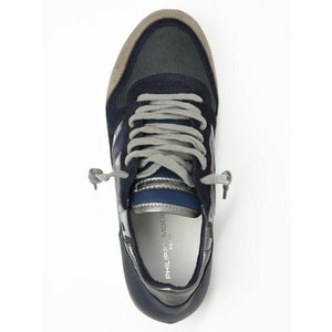 【送料無料】PHILIPPE MODEL【フィリップモデル】 スニーカー Specia Classic SPLU CX01  suede nylon  leather camouflage GREY NAVY (スエード ナイロン)|cinqueunaltro|02