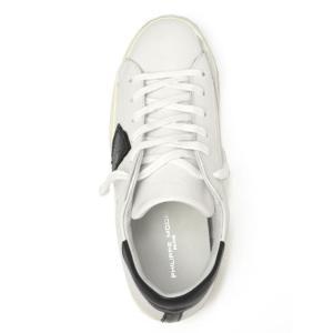 【送料無料】PHILIPPE MODEL【フィリップモデル】  スニーカー Classic Veau CLLU VU06  leather WHITE BLACK(レザー ホワイト ブラック)|cinqueunaltro|02