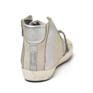 【送料無料】PHILIPPE MODEL【フィリップモデル】 ハイカットスニーカー BIKE HIGH METALLIC BIHU MC23 crack leather WHITE SILVER(ひび割れレザー ホワイト) cinqueunaltro 05