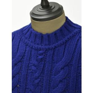 【送料無料】GRAY【グライ】ケーブルクルーネックニット KURTIS 319 183 wool CASMOS(ウール ネイビーブルー) cinqueunaltro 03