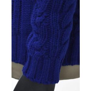 【送料無料】GRAY【グライ】ケーブルクルーネックニット KURTIS 319 183 wool CASMOS(ウール ネイビーブルー) cinqueunaltro 04