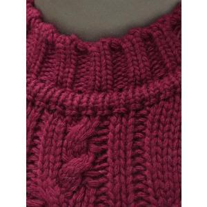 【送料無料】GRAY【グライ】ケーブルクルーネックニット KURTIS 319 16 wool CLARET(ウール ワインレッド)|cinqueunaltro|05