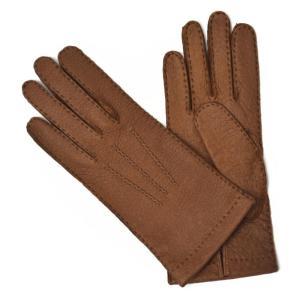 【送料無料】MEROLA【メローラ】手袋/グローブ ME629005 71 peccary leather LIGHT BROWN(ライトブラウン ペッカリーレザー)|cinqueunaltro