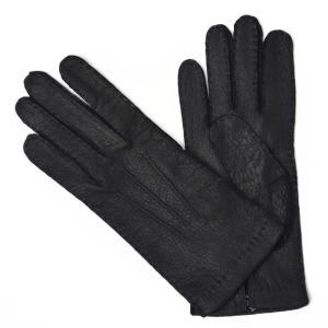 【送料無料】MEROLA【メローラ】手袋/グローブ ME629005 80 peccary leather NAVY(ネイビー ペッカリーレザー)|cinqueunaltro