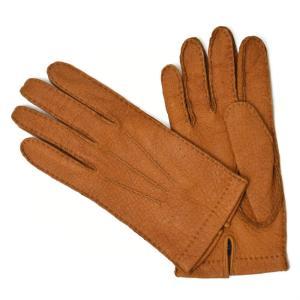 【送料無料】MEROLA【メローラ】手袋/グローブ ME329007 71 peccary leather CAMEL(キャメル ペッカリーレザー)|cinqueunaltro