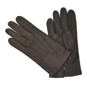 【送料無料】MEROLA【メローラ】手袋/グローブ ME329007 71 peccary leather BROWN(ブラウン ペッカリーレザー)|cinqueunaltro