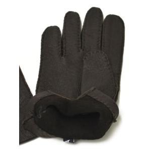 【送料無料】MEROLA【メローラ】手袋/グローブ ME329007 71 peccary leather BROWN(ブラウン ペッカリーレザー)|cinqueunaltro|02
