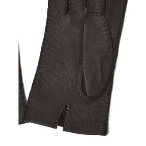 【送料無料】MEROLA【メローラ】手袋/グローブ ME329007 71 peccary leather BROWN(ブラウン ペッカリーレザー)|cinqueunaltro|03