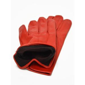 MEROLA【メローラ】手袋/グローブ ME429002 40 lamb leather ROSS( ラムレザー ロッソ)|cinqueunaltro|02