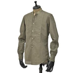 Massimo Alba【マッシモ・アルバ】バンドカラーシャツ KOS T4277 U671 グリーン コットン|cinqueunaltro