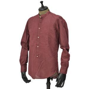 Massimo Alba【マッシモ・アルバ】バンドカラーシャツ KOS T4277 U367 レッド コットン|cinqueunaltro