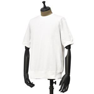 ANTICIPO【アンティチポ】クルーネックカットソー 211-U001RS smooth 01 NEBBIOLO コットン ホワイト|cinqueunaltro