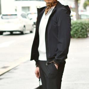 AQUARAMA【アクアラマ】フーデットブルゾン 82822 E108 899 ナイロン ポリウレタン ブラック|cinqueunaltro|09