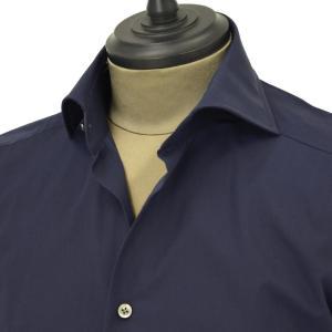 Bagutta【バグッタ】ドレスシャツG386V 00170 051 コットン ポプリン ネイビー|cinqueunaltro|03
