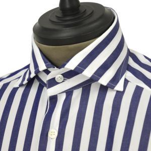 Bagutta【バグッタ】ドレスシャツG386V 07720 250 コットン ストライプ ホワイト ブルー cinqueunaltro