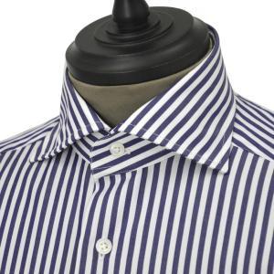 Bagutta【バグッタ】ドレスシャツG386V 07994 252 コットン ストライプ ホワイト ブルー|cinqueunaltro
