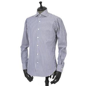 Bagutta【バグッタ】ドレスシャツG386V 07994 252 コットン ストライプ ホワイト ブルー|cinqueunaltro|02