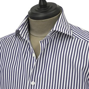 Bagutta【バグッタ】ドレスシャツG386V 07994 252 コットン ストライプ ホワイト ブルー|cinqueunaltro|03