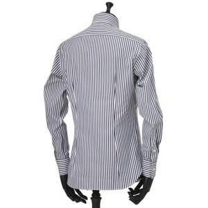 Bagutta【バグッタ】ドレスシャツG386V 07994 252 コットン ストライプ ホワイト ブルー|cinqueunaltro|04