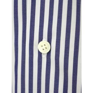 Bagutta【バグッタ】ドレスシャツG386V 07994 252 コットン ストライプ ホワイト ブルー|cinqueunaltro|05