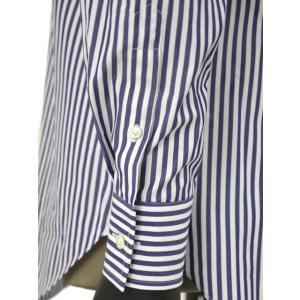 Bagutta【バグッタ】ドレスシャツG386V 07994 252 コットン ストライプ ホワイト ブルー|cinqueunaltro|06