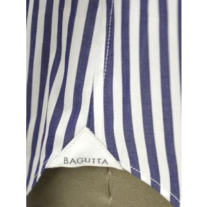 Bagutta【バグッタ】ドレスシャツG386V 07994 252 コットン ストライプ ホワイト ブルー|cinqueunaltro|07