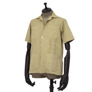 Bagutta【バグッタ】キューバシャツ AVANA 07881 010 コットン  ベージュ|cinqueunaltro