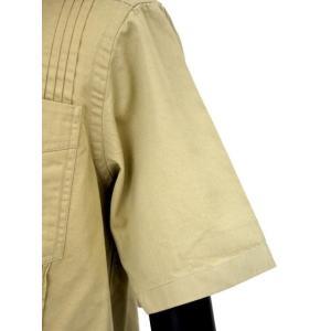 Bagutta【バグッタ】キューバシャツ AVANA 07881 010 コットン  ベージュ|cinqueunaltro|05
