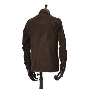 Bagutta【バグッタ】オープンカラーシャツ ALOHAK 08380 071 コットン コーデュロイ ダークブラウン cinqueunaltro 03