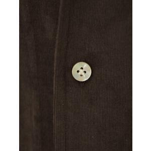 Bagutta【バグッタ】オープンカラーシャツ ALOHAK 08380 071 コットン コーデュロイ ダークブラウン cinqueunaltro 04