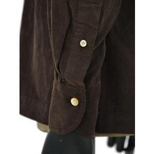 Bagutta【バグッタ】オープンカラーシャツ ALOHAK 08380 071 コットン コーデュロイ ダークブラウン cinqueunaltro 05