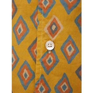 Bagutta【バグッタ】オープンカラーシャツ JOHNNY_GLR 09088 620 コットン ジオメトリック マスタード|cinqueunaltro|04