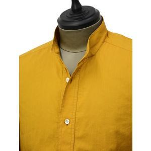 Bagutta【バグッタ】バンドカラープルオーバーシャツ PATMOS_GL 09064 020 コットン マスタード|cinqueunaltro|02