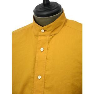 Bagutta【バグッタ】バンドカラープルオーバーシャツ PATMOS_GL 09064 020 コットン マスタード|cinqueunaltro|03