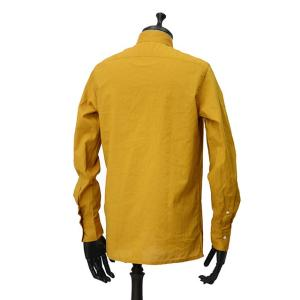 Bagutta【バグッタ】バンドカラープルオーバーシャツ PATMOS_GL 09064 020 コットン マスタード|cinqueunaltro|04