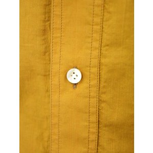 Bagutta【バグッタ】バンドカラープルオーバーシャツ PATMOS_GL 09064 020 コットン マスタード|cinqueunaltro|05