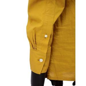 Bagutta【バグッタ】バンドカラープルオーバーシャツ PATMOS_GL 09064 020 コットン マスタード|cinqueunaltro|07