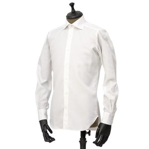 Bagutta【バグッタ】ドレスシャツ 345_GL 02419 001 コットン ツイル イージーケア ホワイト|cinqueunaltro|02