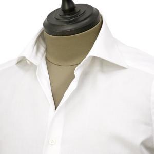 Bagutta【バグッタ】ドレスシャツ 345_GL 02419 001 コットン ツイル イージーケア ホワイト|cinqueunaltro|03