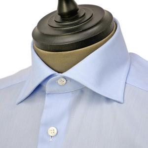 Bagutta【バグッタ】ドレスシャツ 345_GL 02419 051 コットン ツイル イージーケア ブルー cinqueunaltro