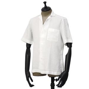 Bagutta【バグッタ】オープンカラーシャツ MAUI_GM CN0045 001 リネン ホワイト|cinqueunaltro